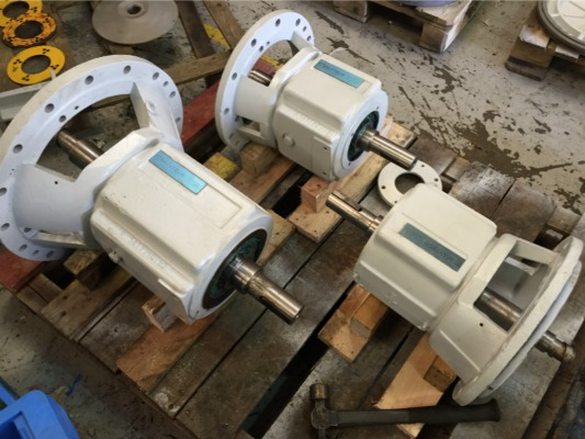 Refurbished Pumps ready for shipment